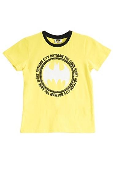 Batman Batman Lisanslı Lacivert Erkek Çocuk T-Shirt Sarı